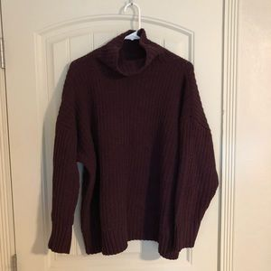 Aerie Chenille Turtleneck Sweater